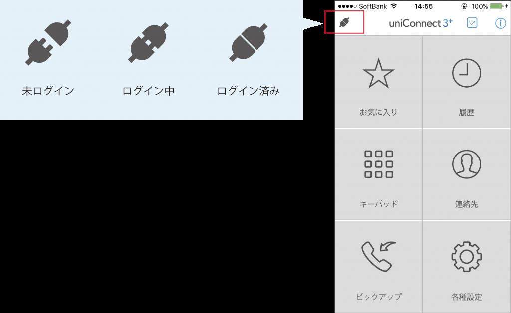 uniConnect 3+ ログインアイコン